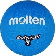 DB2-B Piłka gumowa Molten dodgeball size 2