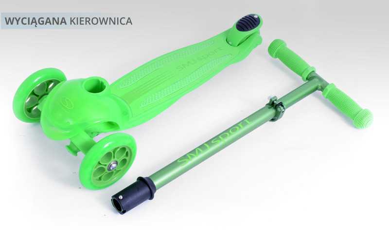 Hulajnoga 3-kołowa SMJ sport MS06 GREEN LED