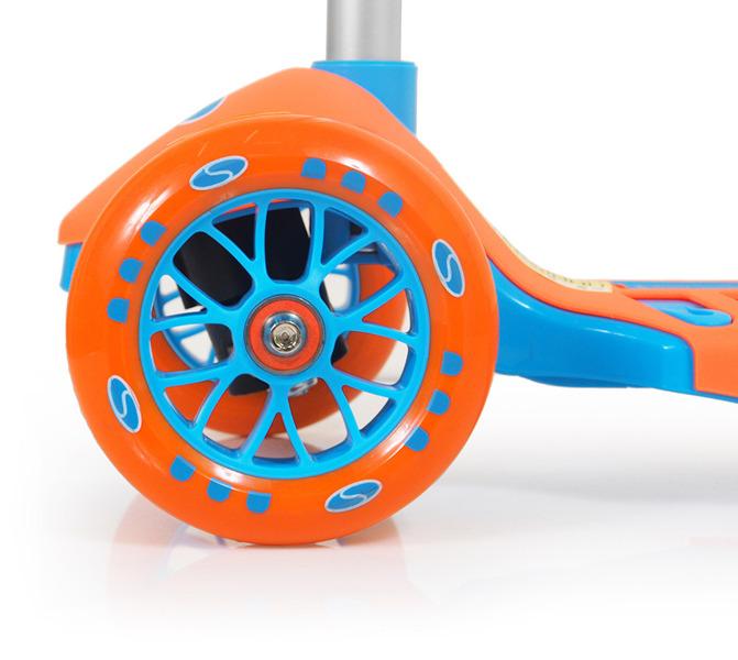 Hulajnoga trójkołowa SMJ Sport AF-WG04 pomarańczowo-niebieska