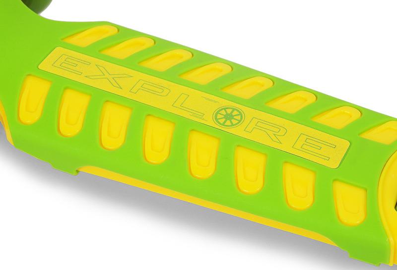 Hulajnoga trójkołowa SMJ Sport AF-WG04 zielono-żółta