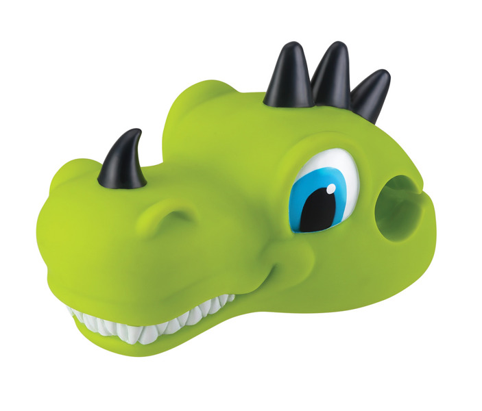 Maskotka na kierownicę hulajnogi Globber Scooter Friends Dino green 527-106