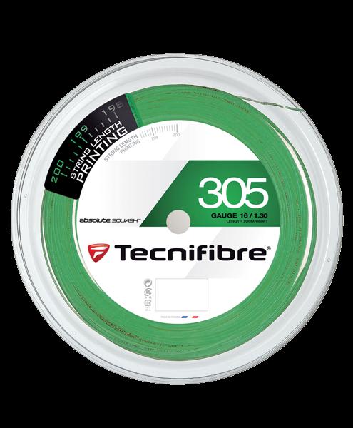 Naciąg Tecnifibre 305 squash szpula 200m zielony