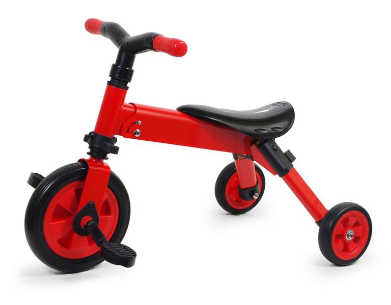 Rowerek 3-kołowy składany TCV-T701 czerwony