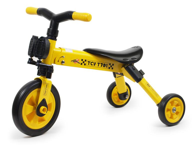 Rowerek 3-kołowy składany TCV-T701 żółty